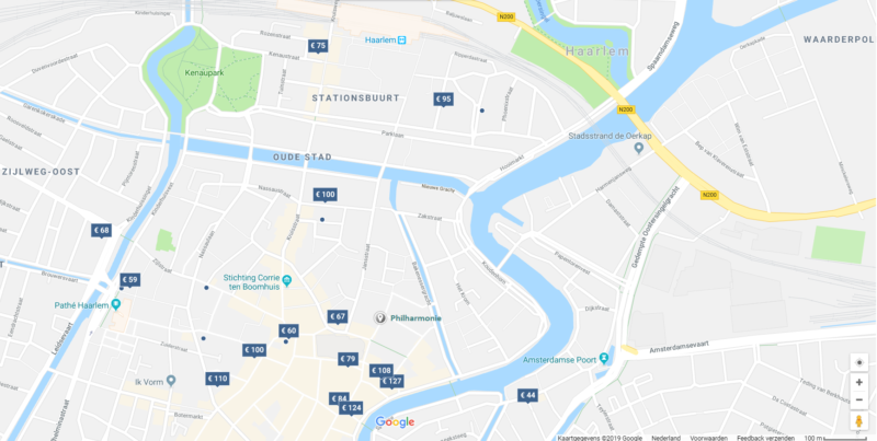 Haarlem city hotel map